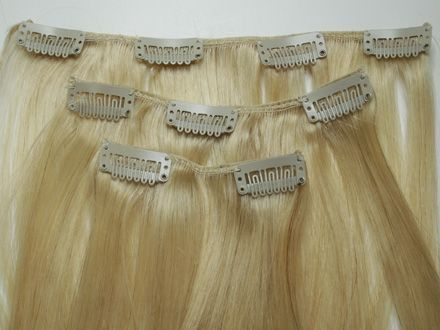 Как крепить волосы на заколках,накладные пряди