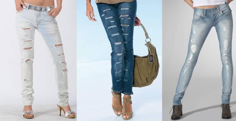 Рваные джинсы своими руками с фото