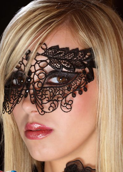Кружевная маска на глаза