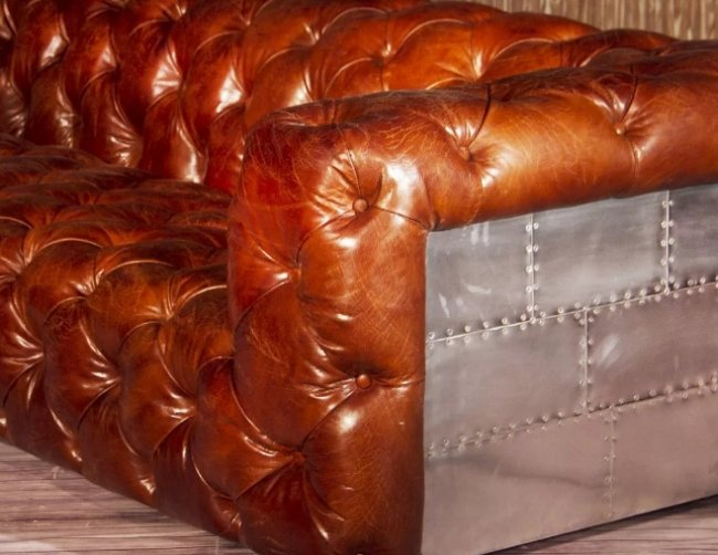 Коньячная кожа для одежды, аксессуаров и предметов мебели