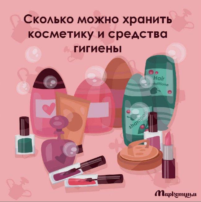 Сроки хранения косметики